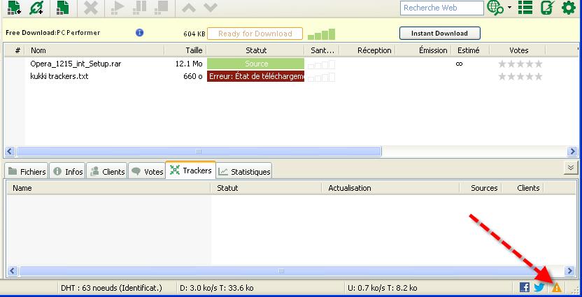 مشكل برنامج µTorrent المرجوا المساعدة